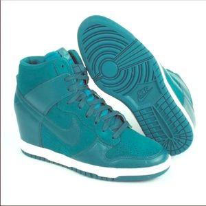 Nike Shoes - Teal Nike Ski Dunk Wedge Sneakers